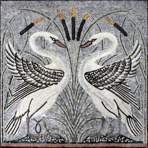 Art deco mosaic for Art deco tile mural