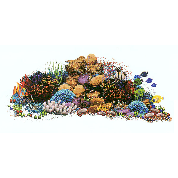 Agape tile bisazza custom pools murals gem tile for Coral reef mural