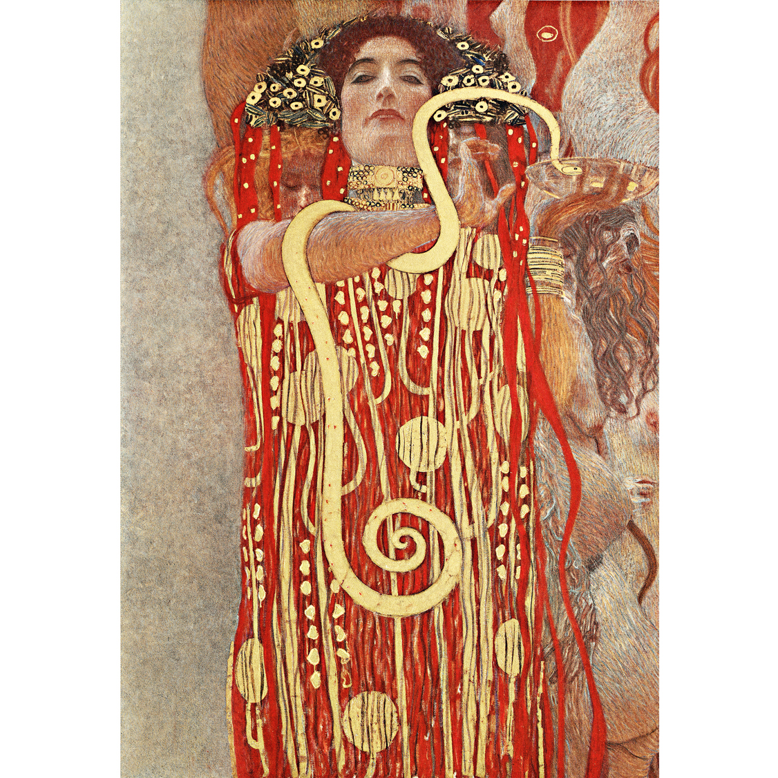 Kitchen Mural Backsplash Agape Tile Hygeia Klimt Handcut Glass Mural 1 Mural