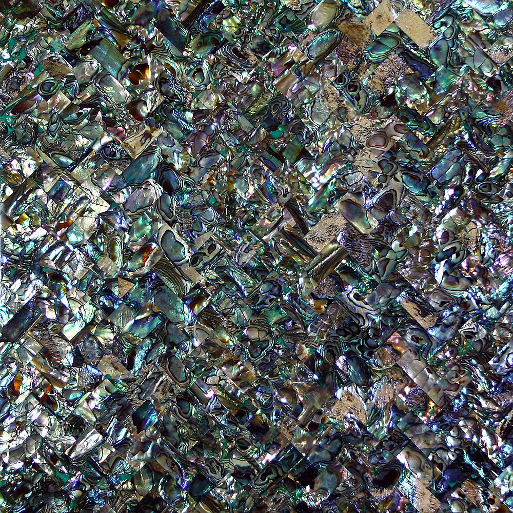 Paua tiles for bathroom - Paua Weave Shell Tile 12x12