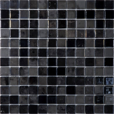 agape tile black velvet 407 vidrepur lux glass mosaic tile 25mm 1 1 sheet. Black Bedroom Furniture Sets. Home Design Ideas