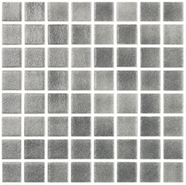 Agape Tile Fog Dark Grey 515 Vidrepur Glass Mosaic Tile