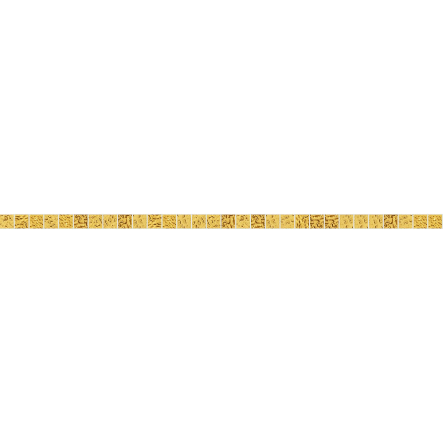 "Yellow Oro 10.1 Wavy Gold Leaf Tile 10mm - 3/8"", 1 LF row"