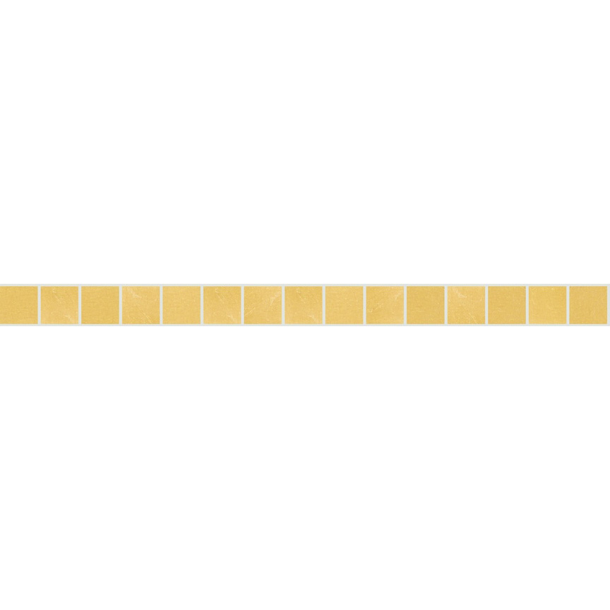 "Yellow Oro 20.2 Smooth Gold Leaf Tile 20mm - 3/4"", 1 LF row"