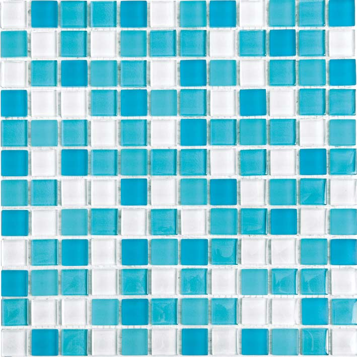 Taurus 1018 Gloss & Matte Blend Villi Glass Mosaic Tile, 1 sheet