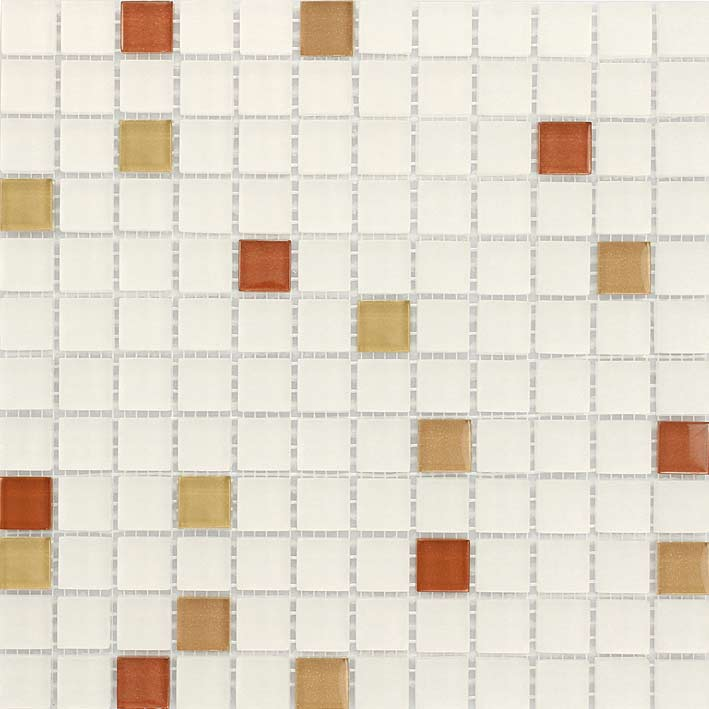 Corsica 1053 Gloss & Matte Blend Villi Glass Mosaic Tile, 1 sheet