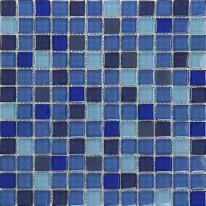 Cannes 1058 Gloss & Matte Blend Villi Glass Mosaic Tile, 1 sheet