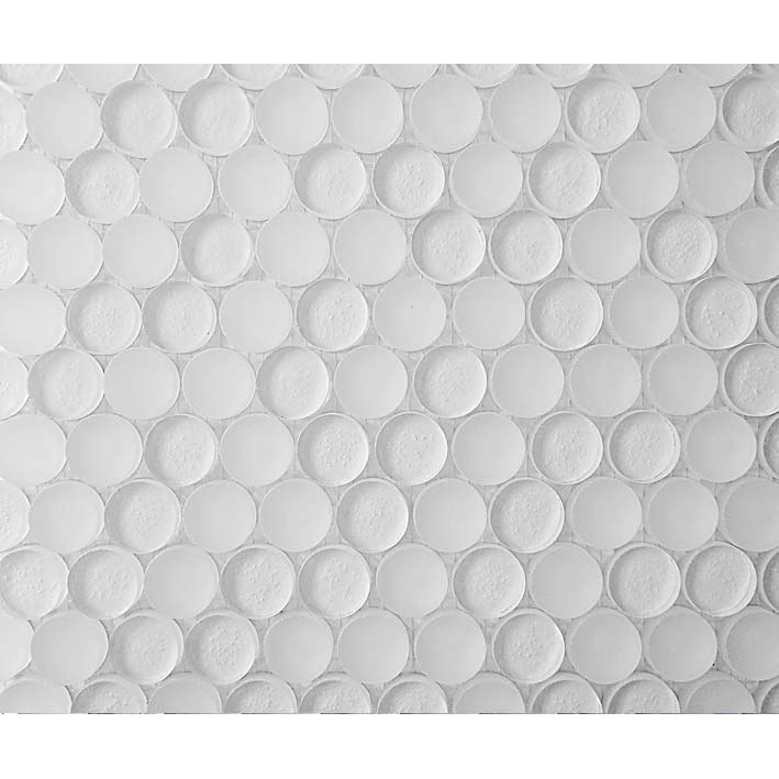 "Tranquility 1061 Glass Penny Round Villi Glass Mosaic Tile, 1"", 1 sheet"