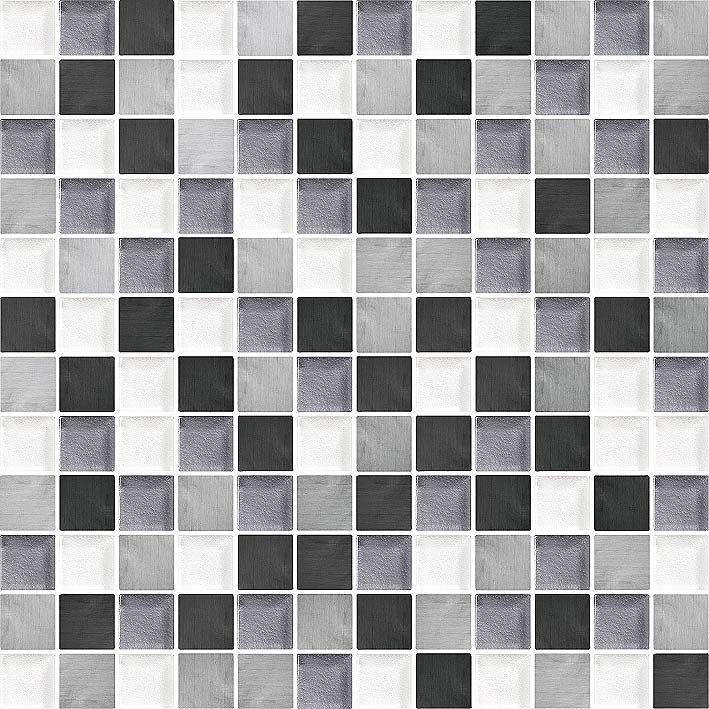 Glacier 1070 Glass & Metal Blend Villi Glass Mosaic Tile, 1 sheet