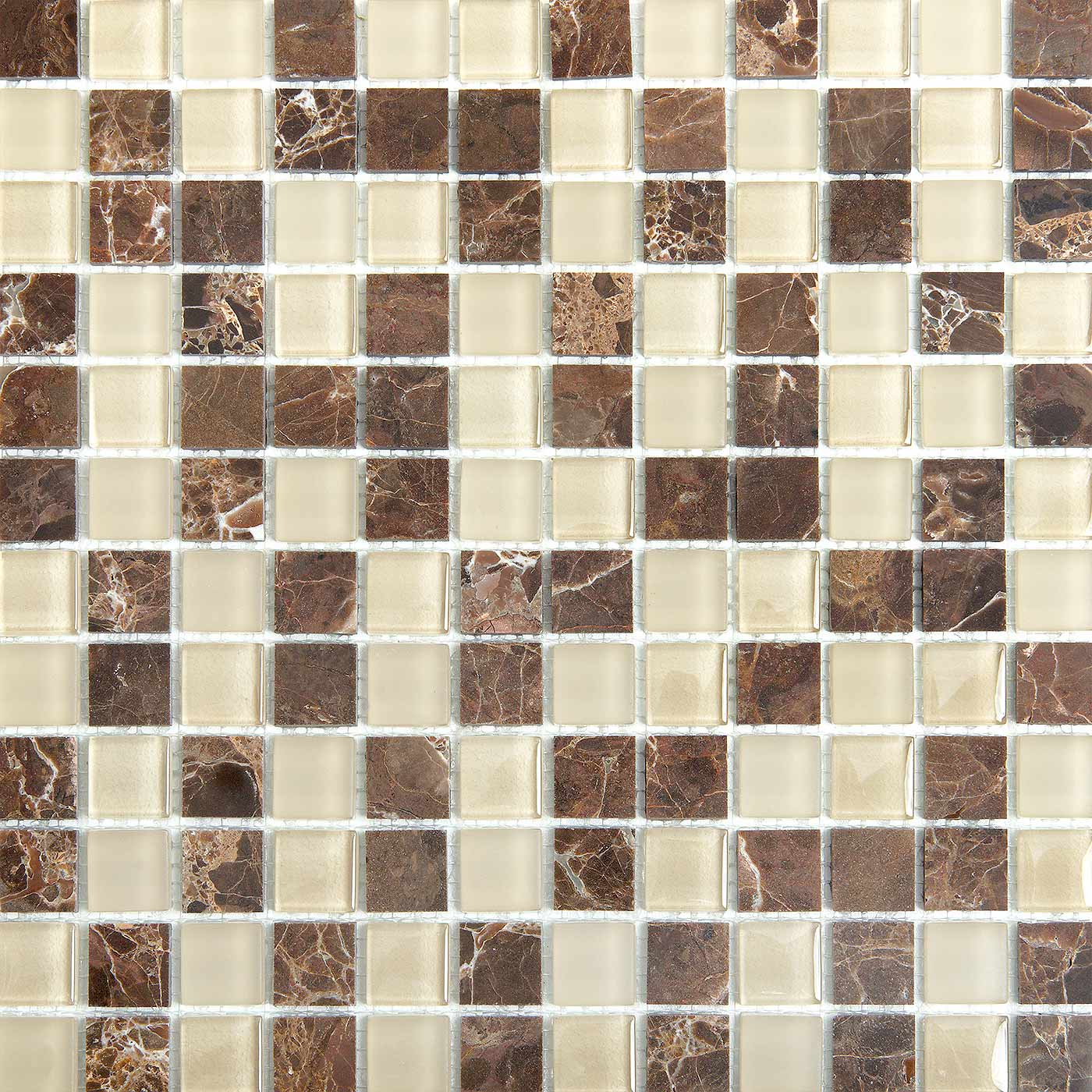 Maple 1703 Glass & Stone Blend Villi Glass Mosaic Tile, 1 sheet