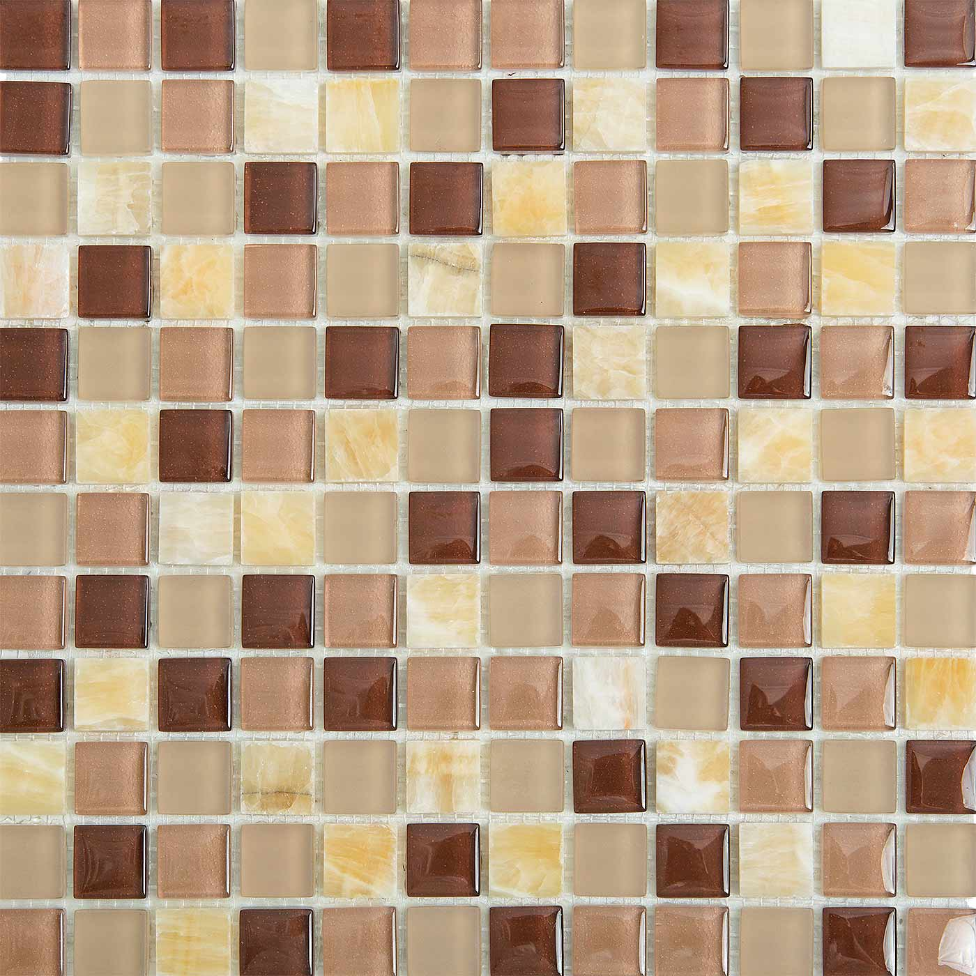 Birch 1704 Glass & Stone Blend Villi Glass Mosaic Tile, 1 sheet