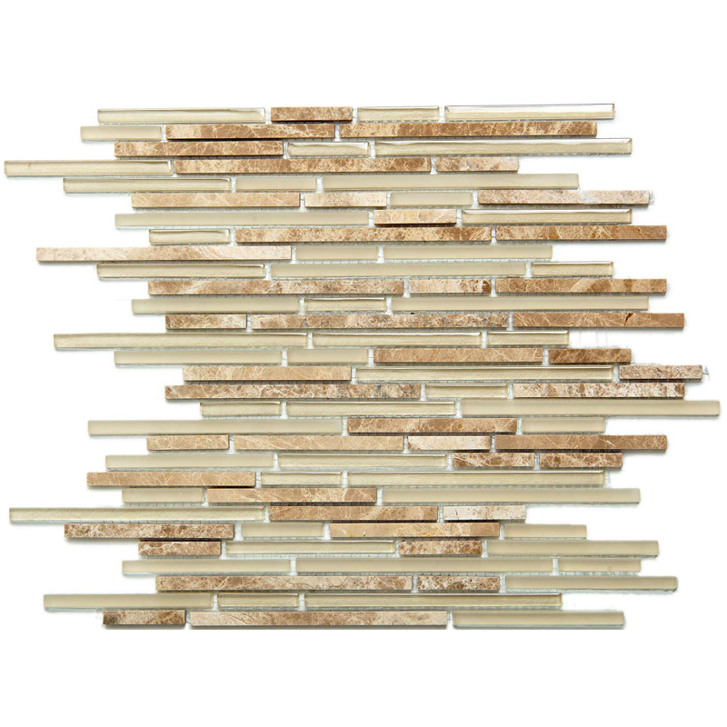 Dogwood 1085 Glass & Stone Pencil Villi Glass Mosaic Tile, 1 sheet