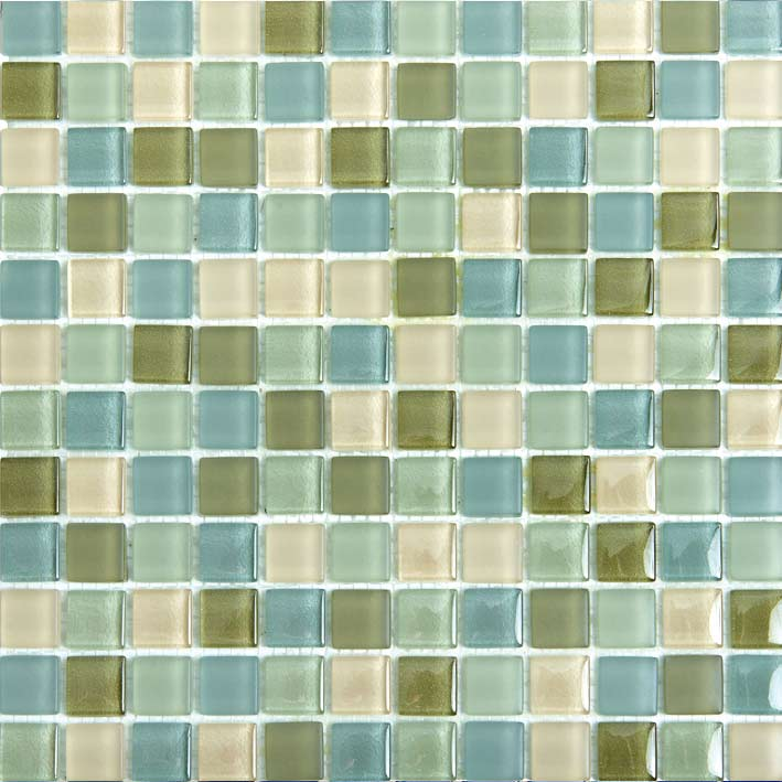 Chai 1088 Gloss & Matte Blend Villi Glass Mosaic Tile, 1 sheet