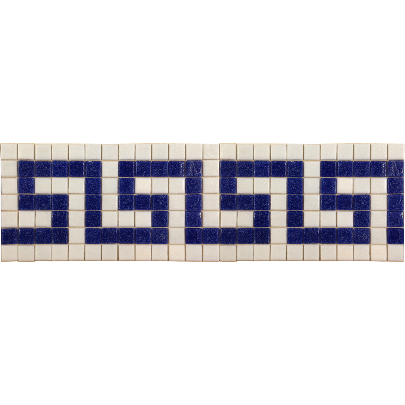 "Greek Key 5 Glass Mosaic Waterline or Border 5.5"" High, 1 Lineal Foot"