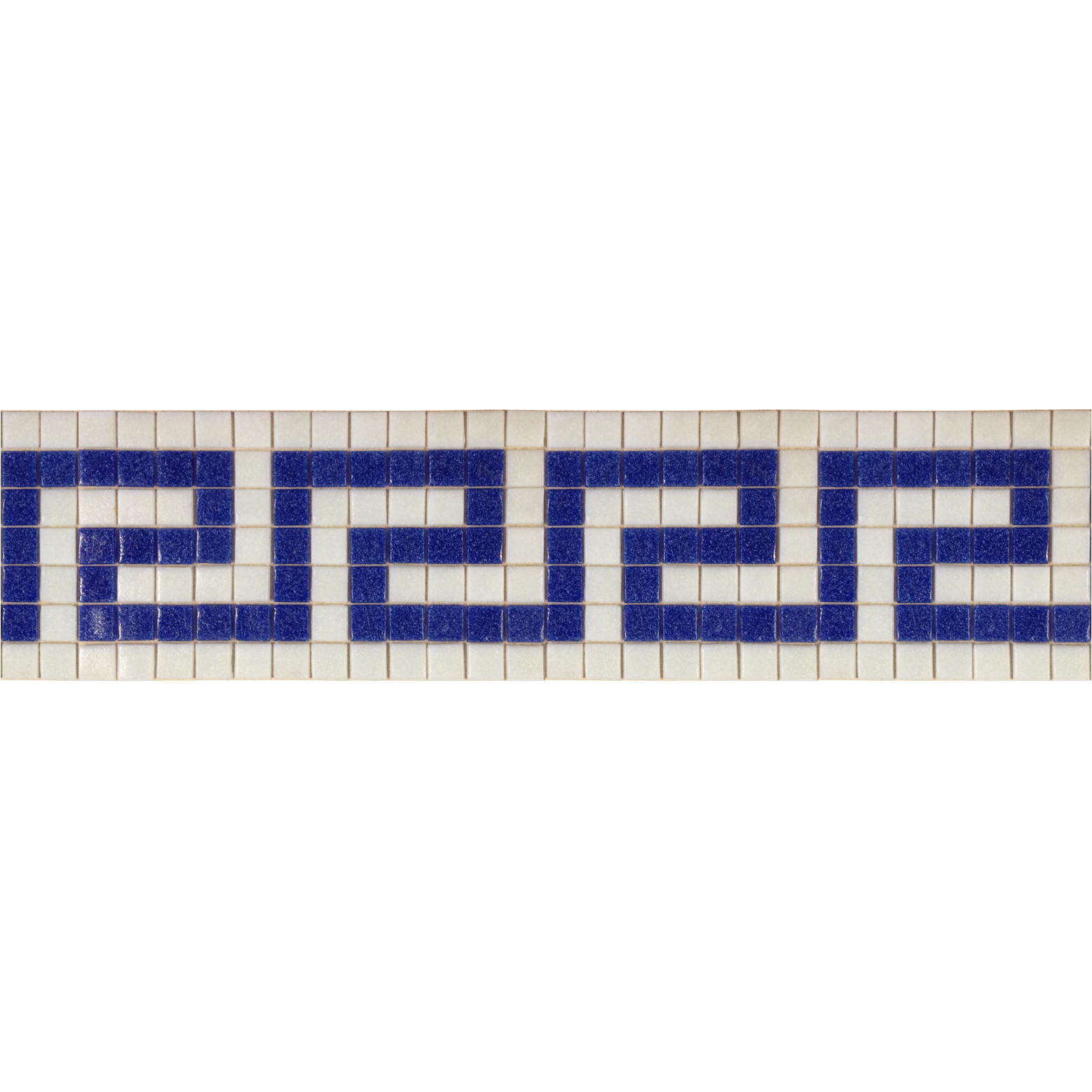 "Greek Key 6 Glass Mosaic Waterline or Border 5.5"" High, 1 Lineal Foot"