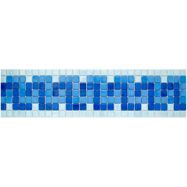 "Lucian Glass Mosaic Waterline or Border 5.5"" High, 1 Lineal Foot"