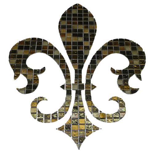 Large Fleur De Lis Gl Mosaic Swimming Pool Mural 42 May Be Customized
