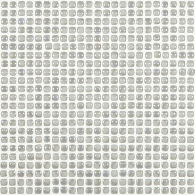 "Frost Grey Pearl #451 Vidrepur Glass Mosaic Tile, 12mm - 1/2"", 1 sheet"