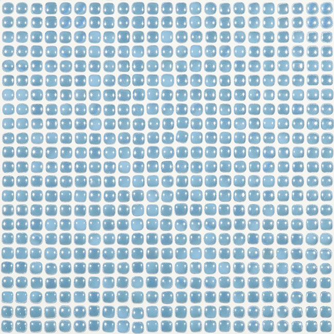 "Waves Blue Pearl #452 Vidrepur Glass Mosaic Tile, 12mm - 1/2"", 1 sheet"