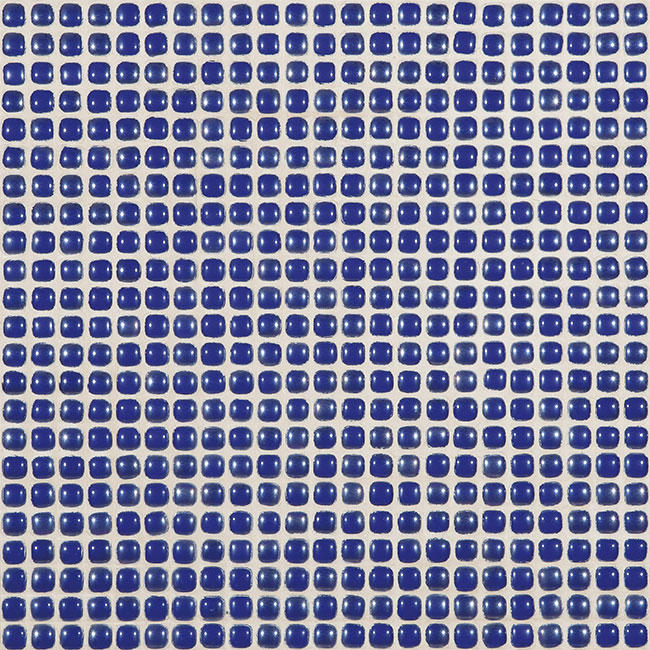 "Royal Blue Pearl #453 Vidrepur Glass Mosaic Tile, 12mm - 1/2"", 1 sheet"