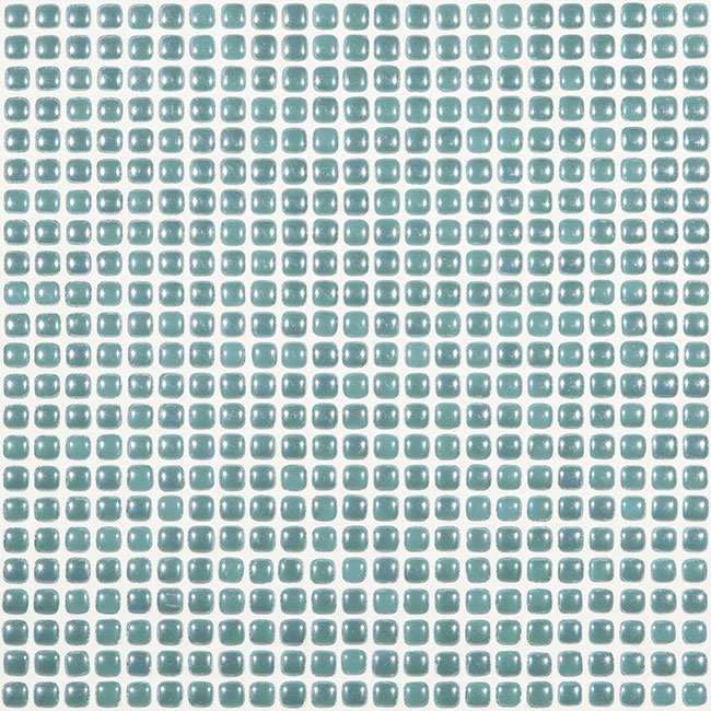 "Sea Turquesa Pearl #456 Vidrepur Glass Mosaic Tile, 12mm - 1/2"", 1 sheet"