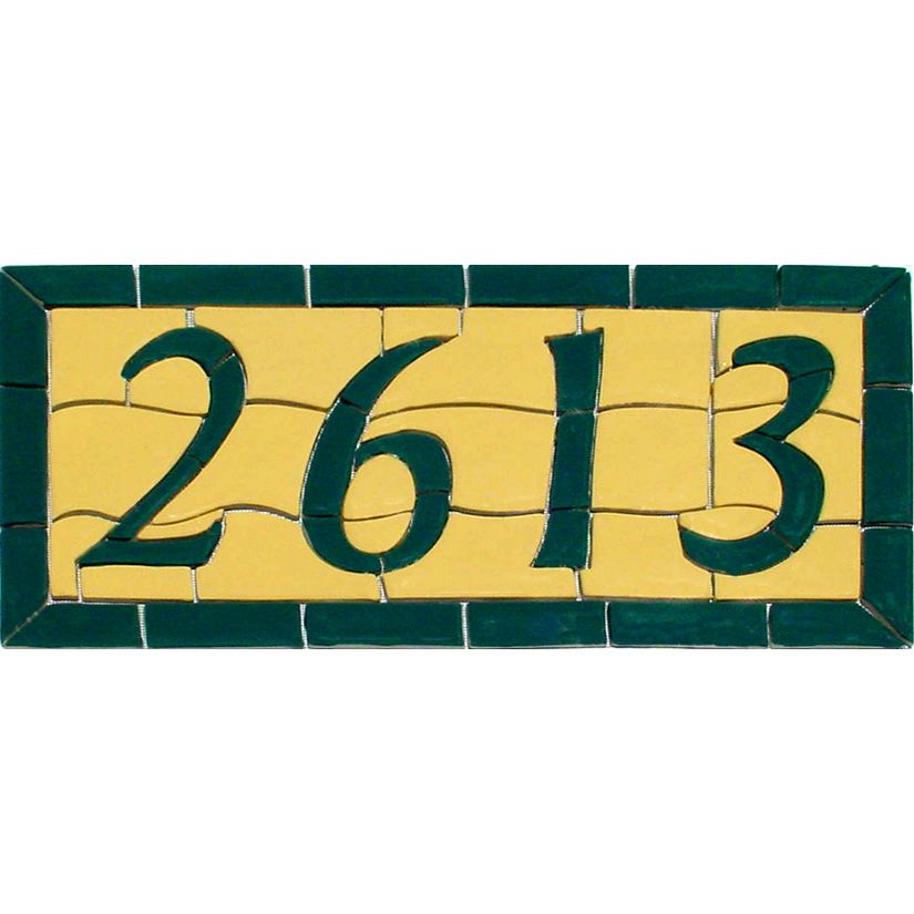 Address Number, Custom Ceramic Mosaic