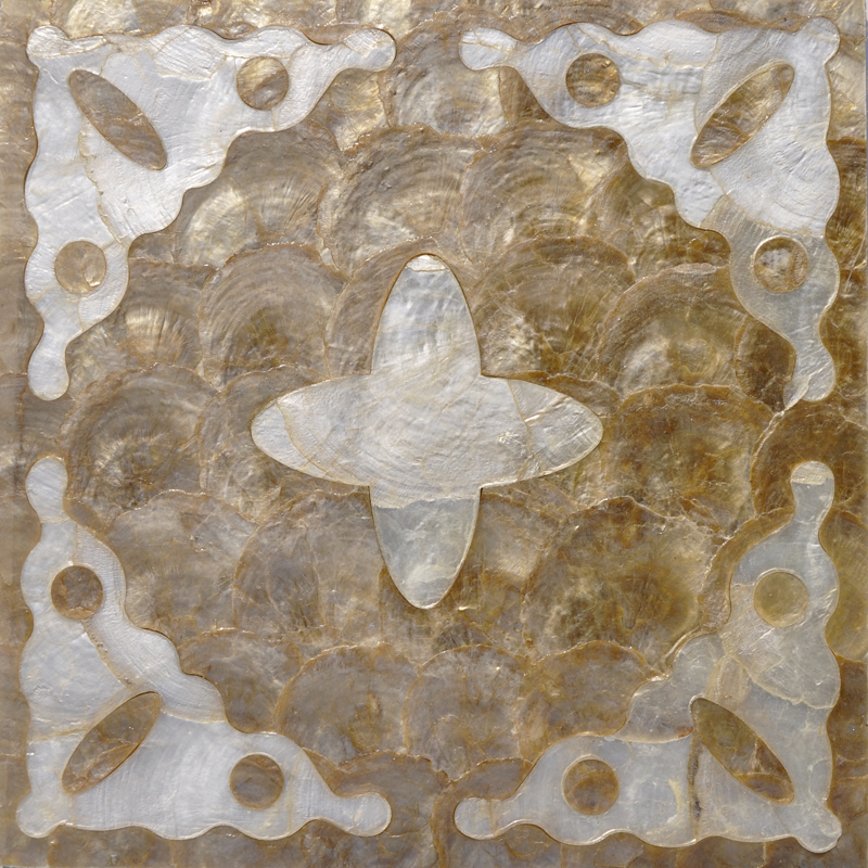 "Akizu Capiz Shell Tile 11.8"" x 11.8"", 1 piece"