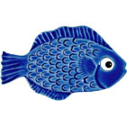 "Mini Fish Blue Ceramic Mosaic Swimming Pool Mural 2"" x 4"", 1 piece"