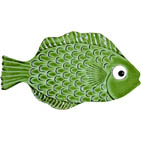 "Mini Fish Green Ceramic Mosaic Swimming Pool Mural 2"" x 4"", 1 piece"