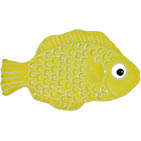 "Mini Fish Yellow Ceramic Mosaic Swimming Pool Mural 2"" x 4"", 1 piece"