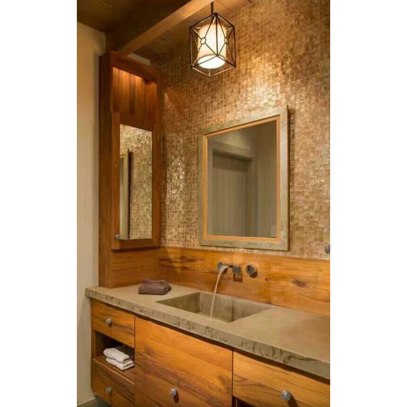 Ashina 3 Capiz Squares Shell Bathroom Wall