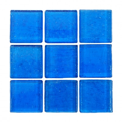 "Bacalar Kolorines Kuarzo Glass Mosaic Tile, 3/4"" x 3/4"" - 20mm, 1 sheet"