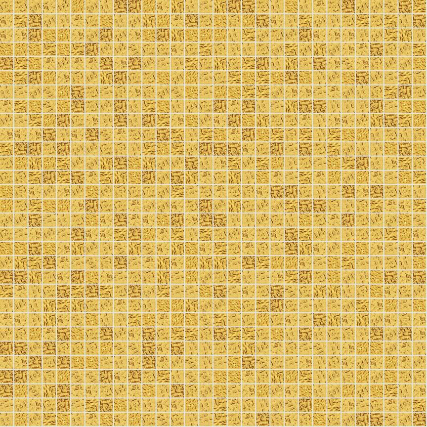 "Yellow Oro 10.1 Wavy Gold Leaf Tile 10mm - 3/8"", 1 sheet"