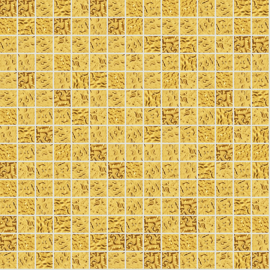 "Yellow Oro 20.1 Wavy Gold Leaf Tile 20mm - 3/4"", 1 sheet"