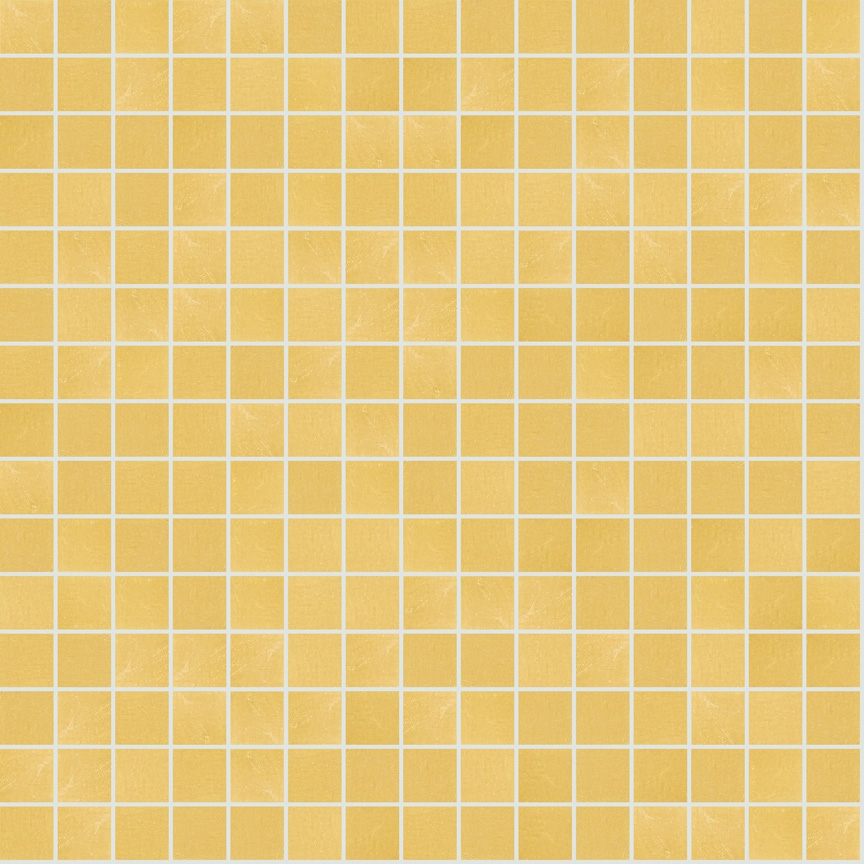 "Yellow Oro 20.2 Smooth Gold Leaf Tile 20mm - 3/4"", 1 sheet"
