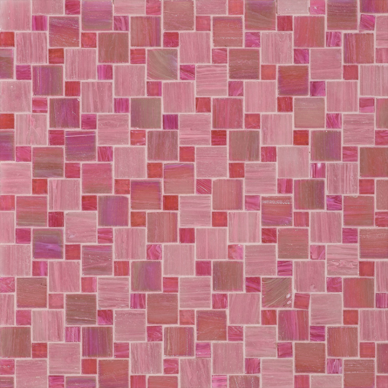 Bisazza Crispina Variations Blend of Glass Mosaic Tile 10 - 20 mm Combo, 10 sheets