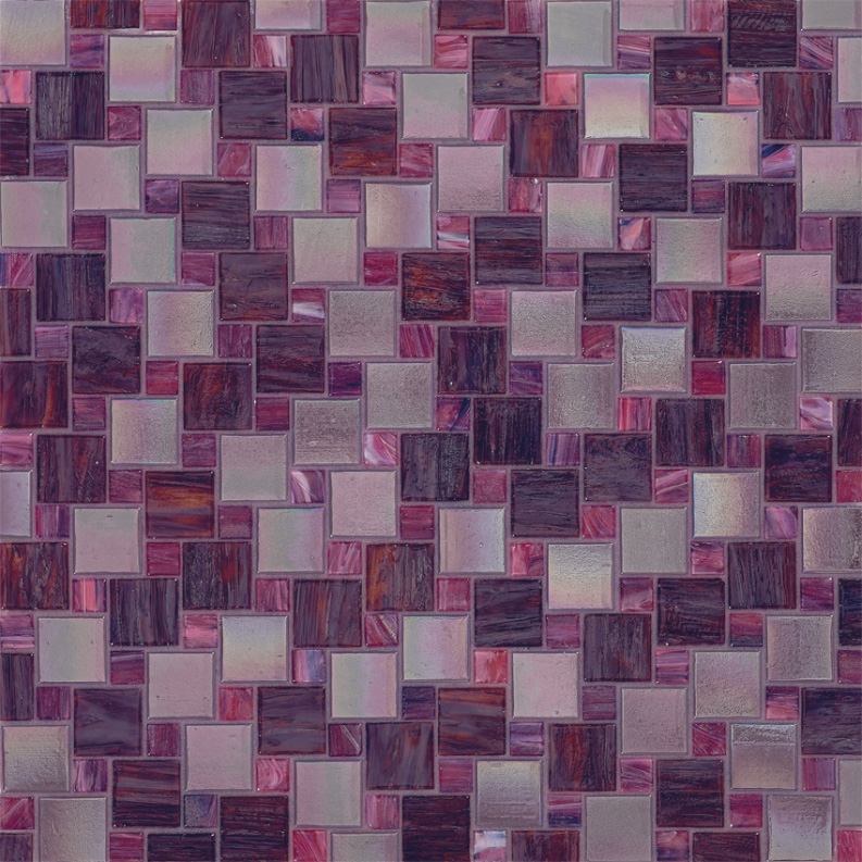 Bisazza Giustina Variations Blend of Glass Mosaic Tile 10 - 20 mm Combo, 10 sheets