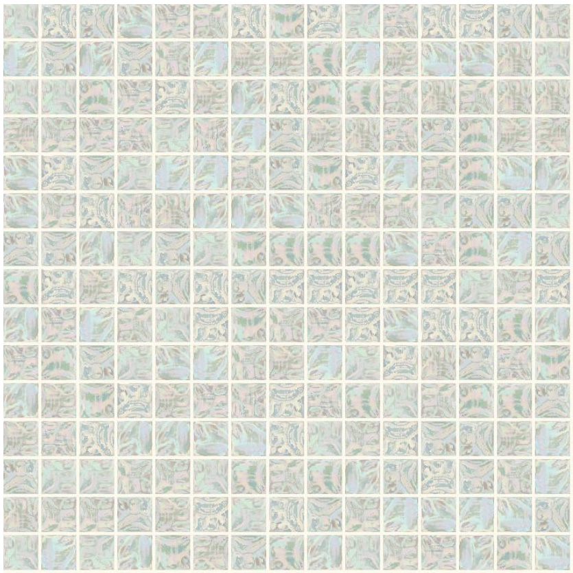 "Bisazza GW 01 Glow Glass Mosaic Tile 20mm - 3/4"", 1 sheet"