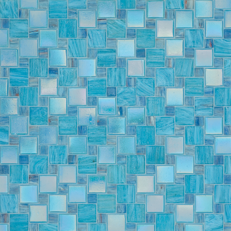 Bisazza Ottavia Variations Blend of Glass Mosaic Tile 10 - 20 mm Combo, 10 sheets