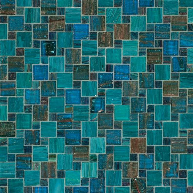 Bisazza Prisca Variations Blend of Glass Mosaic Tile 10 - 20 mm Combo, 10 sheets