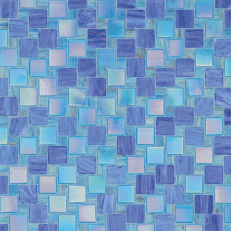 Bisazza Sabina Variations Blend of Glass Mosaic Tile 10 - 20 mm Combo, 10 sheets