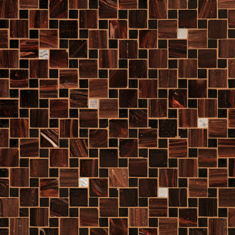 Bisazza Valeria Variations Blend of Glass Mosaic Tile 10 - 20 mm Combo, 10 sheets