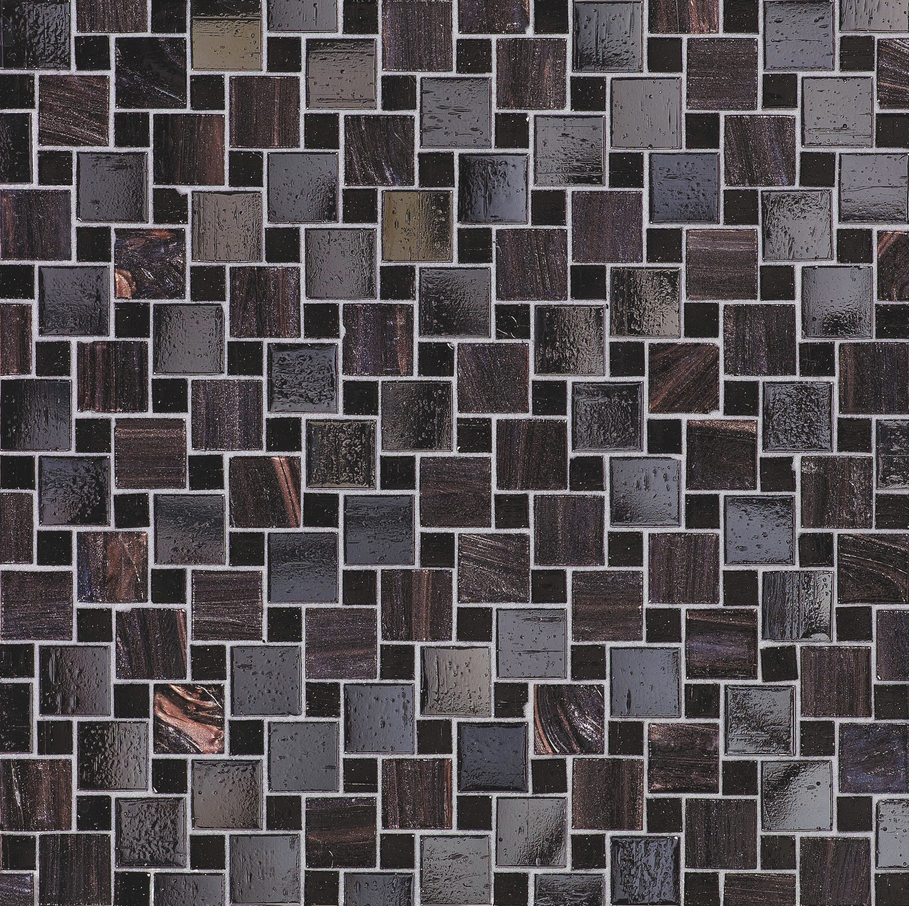 Bisazza Augusta Variations Blend of Glass Mosaic Tile 10 - 20 mm Combo, 10 sheets