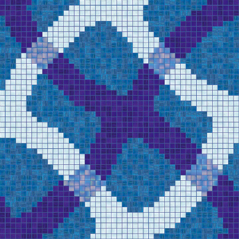 Agape Tile - Bisazza Mirage Blue Glass Swimming Pool Design 20Mm