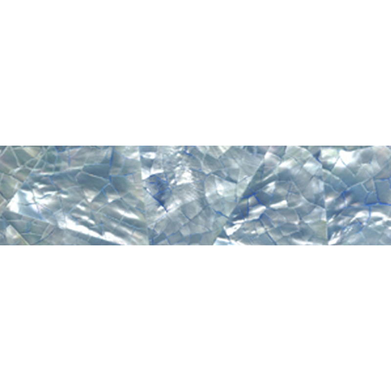"Blue Tint Mother of Pearl Crackle Random Shell Tile, 1x6"", 1 Tile"