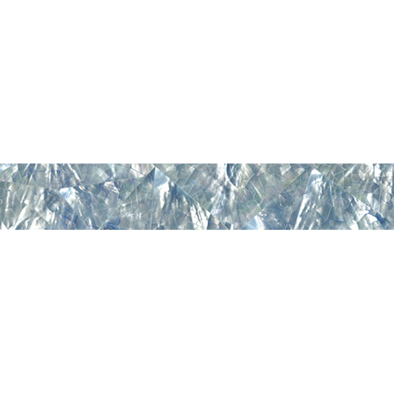 "Blue Tint Mother of Pearl Crackle Random Shell Tile, 2x12"", 1 Tile"