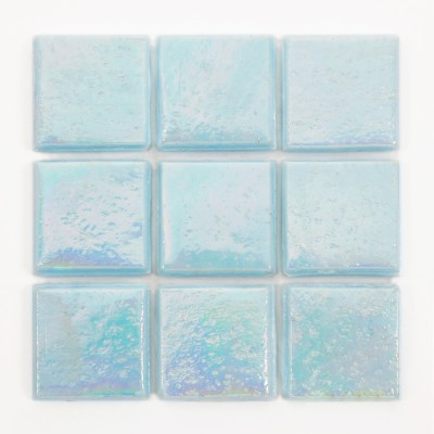 "Blue Pearl Kolorines Metalica Glass Mosaic Tile, 3/4"" x 3/4"" - 20mm, 1 square foot"