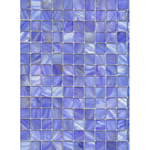 "Blue River Shell Mosaic Sheet, 20mm-3/4"", 1 tile"