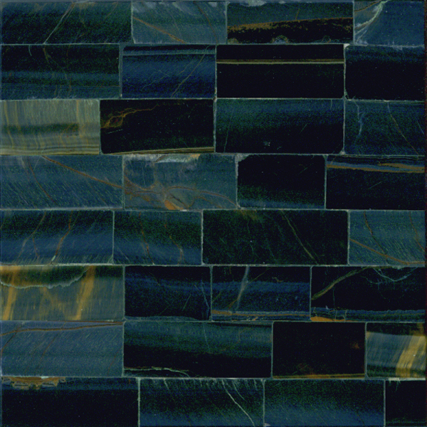 Blue Tiger Eye Semi Precious Gemstone Overlay, per Sq. Ft.