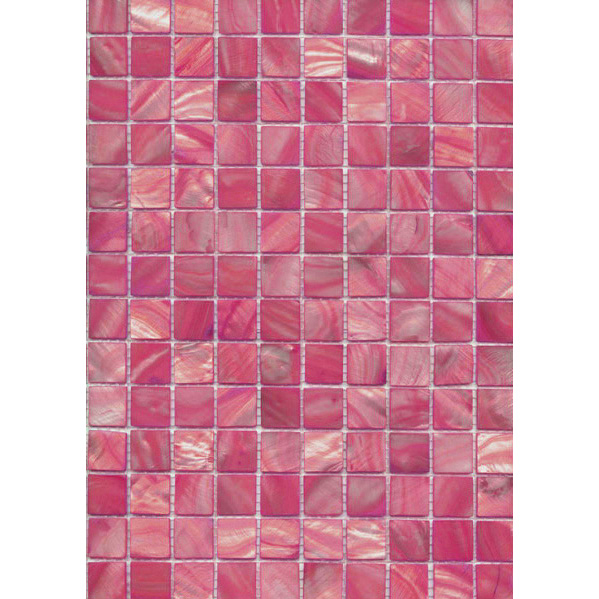 "Bright Pink River Shell Mosaic Sheet, 20mm-3/4"", 1 tile"